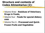 structure and contents of codex alimentarius 2