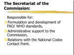 the secretariat of the commission