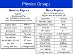 physics groups