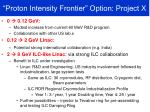 proton intensity frontier option project x1