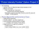 proton intensity frontier option project x2