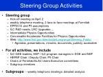 steering group activities