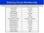 steering group membership