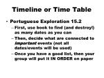 timeline or time table