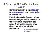 a context for pbis function based support