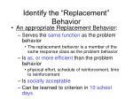 identify the replacement behavior