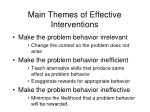 main themes of effective interventions