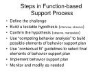 steps in function based support process