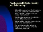 psychological effects identity and relationship