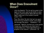 when does ensoulment occur