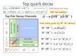 top quark decay