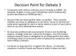 decision point for debate 3