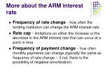 more about the arm interest rate1