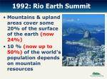 1992 rio earth summit
