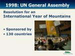 1998 un general assembly