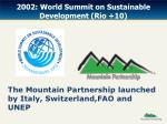 2002 world summit on sustainable development rio 10