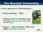 the mountain partnership