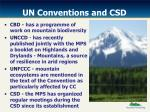 un conventions and csd