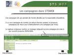 les campagnes dans stsweb