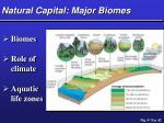 natural capital major biomes