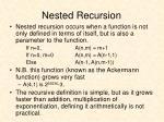 nested recursion