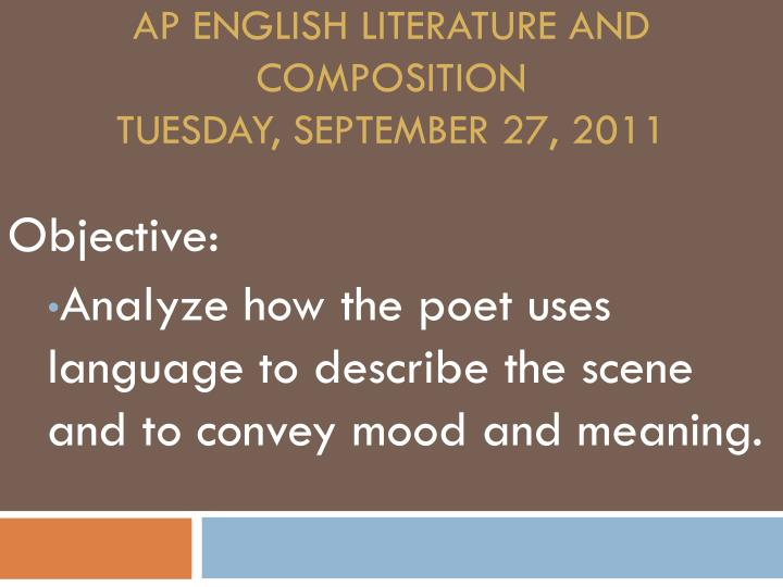 100 key terms ap english language and composition 02032010 by jenny sawyer if you feel like your english teacher is speaking greek when he.
