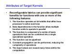 attributes of target kernels