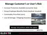 manage customer s or user s risk