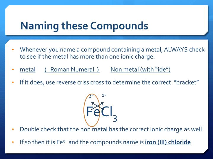 Naming these Compounds