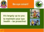 be eye smart