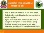 diabetic retinopathy what to do