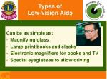 types of low vision aids