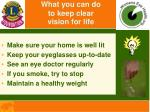 what you can do to keep clear vision for life