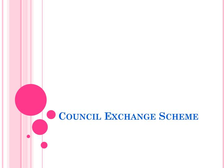 council exchange scheme n.