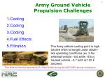army ground vehicle propulsion challenges