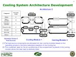 cooling system architecture development2