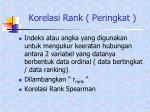 korelasi rank peringkat