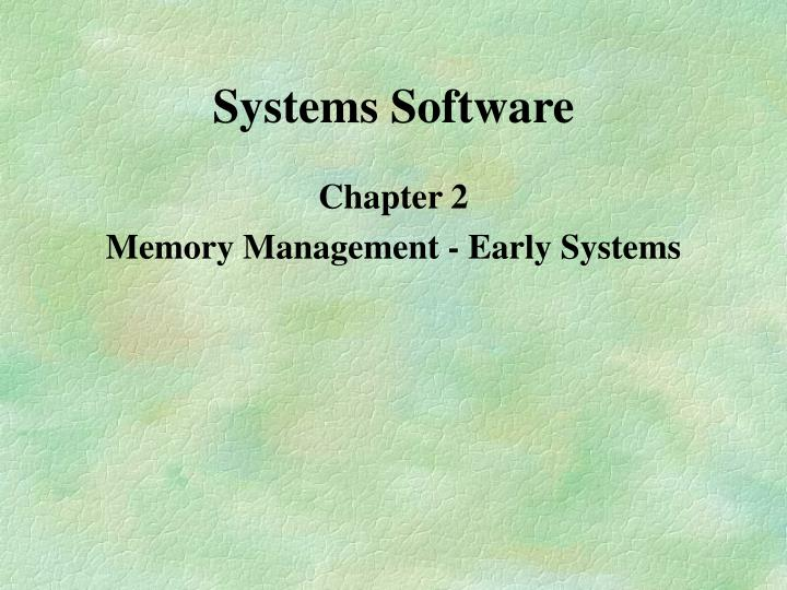 systems software n.