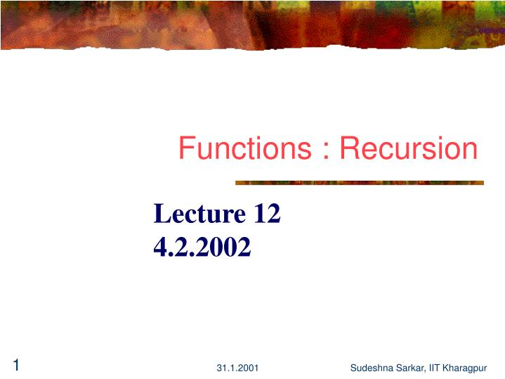 functions recursion n.