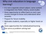 why civic education in language learning1