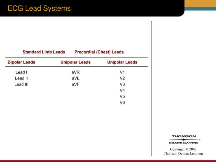Ecg lead systems