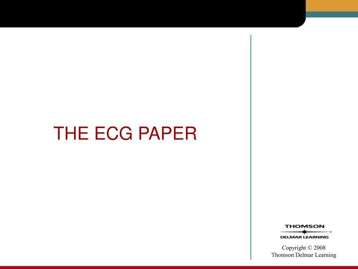 THE ECG PAPER