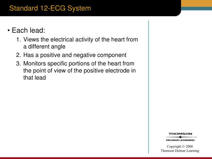 Standard 12-ECG System