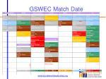 gswec match date