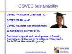 gswec sustainability