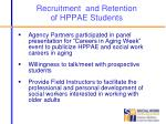 recruitment and retention of hppae students