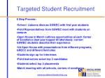 targeted student recruitment