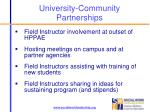 university community partnerships