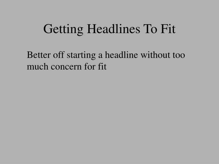 getting headlines to fit n.