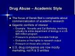 drug abuse academic style